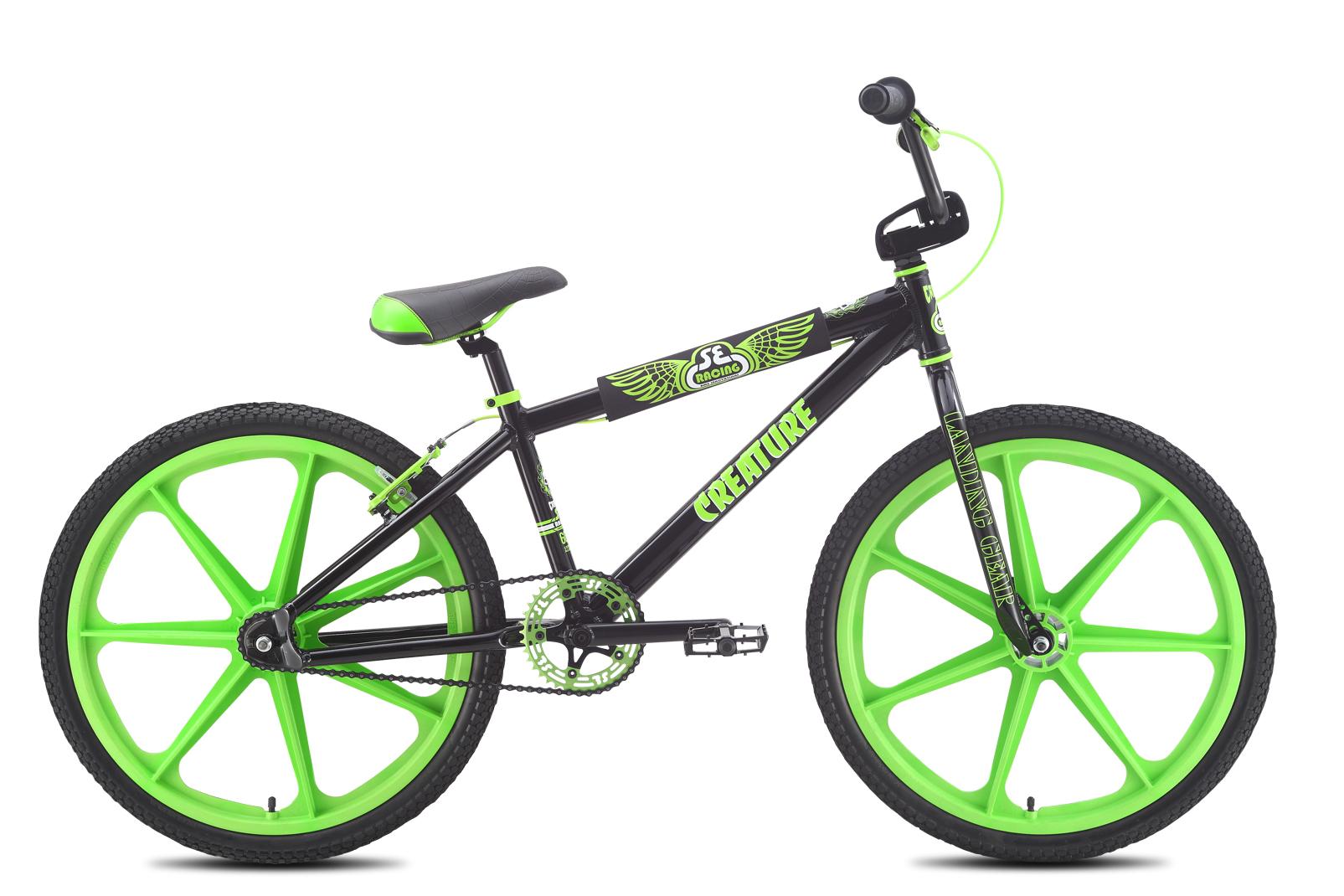 bicicleta completa bmx se bikes creature ruedas 24 negro verde. Black Bedroom Furniture Sets. Home Design Ideas
