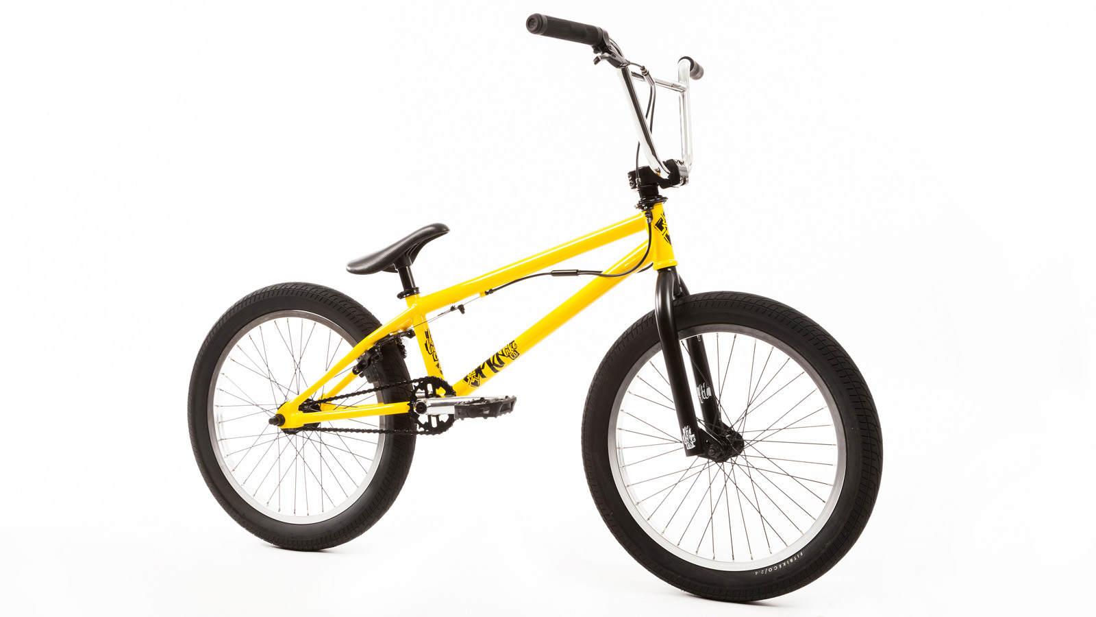 Bicicleta completa BMX Fit Bike Co, PRK. Amarillo ruedas ...